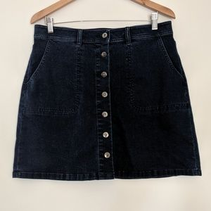 Two by Vince Camuto Button Up Denim Skirt Size 10
